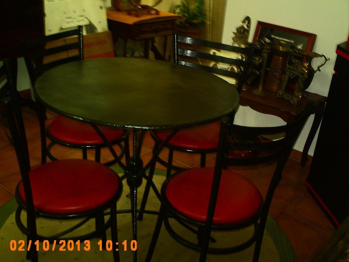 Fotos Mesa Com 4 Cadeiras De Ferro Antiga De Jardim Varanda Pesada #611B03 1200x900