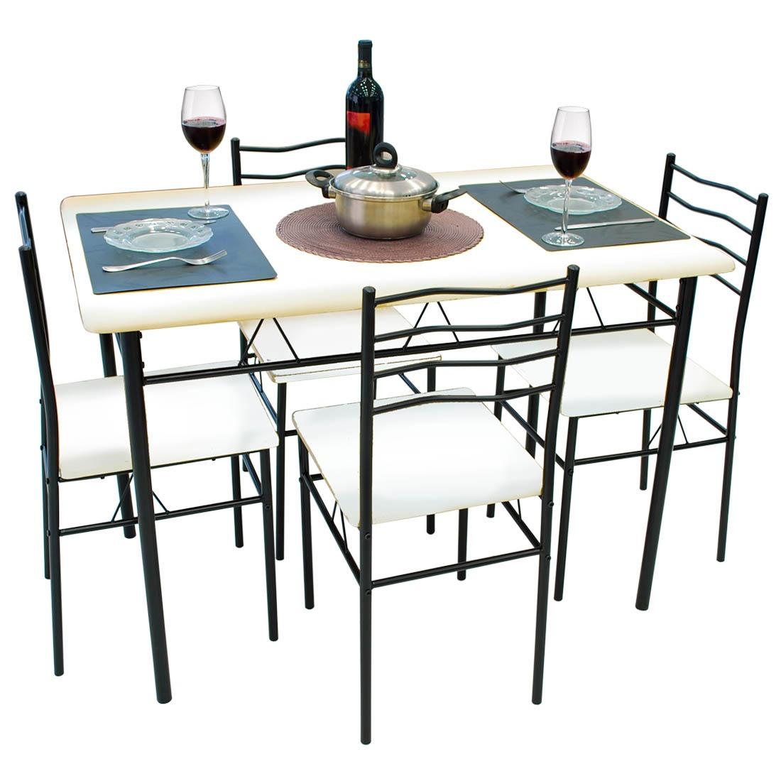 Mesa De Jantar 4 Cadeiras Evidence Branco Umobili R$ 279 71 no  #694438 1100 1100