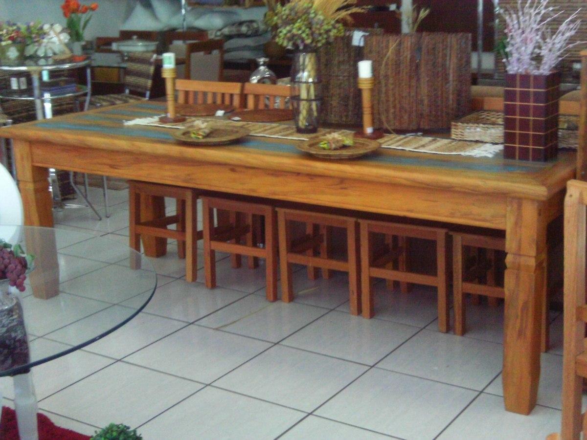 Mesa De Madeira Maciça De Demolição R$ 1.100 00 no MercadoLivre #996832 1200x900