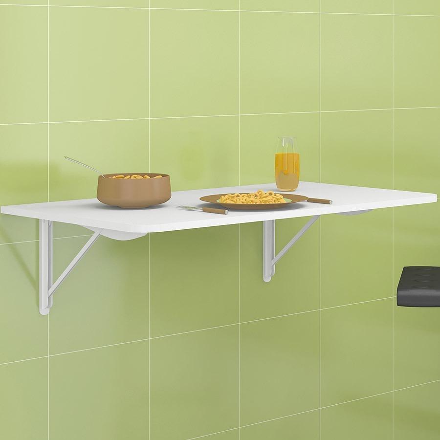 Mesa Em Parede ~ Mesa De Parede Dobrável P Cozinha Retratil Politorno Branca R$ 139,00 no MercadoLivre