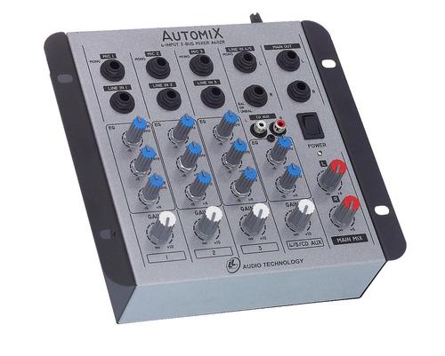 Mesa De Som - Mixer Automix Ll A402r - 4 Canais - 12 Volts