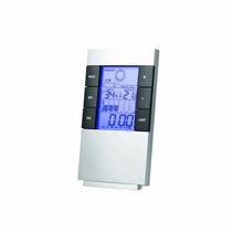 Relógio De Mesa Digital Despertador Previsão Do Tempo Luxo