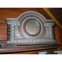 Grande Relógio Em Jacarandá E Prata