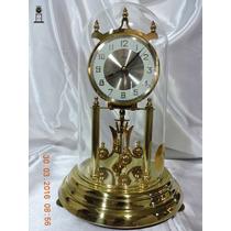 Relógio Antigo De Mesa 400 Dias Kundo Aluminio German Origin