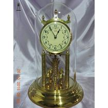 Relógio Antigo De Mesa 400 Dias Kundo Porcelana Dec 50