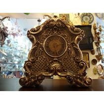 Relógio Em Prata Portuguesa Com Estrutura Em Madeira