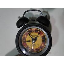 Relogio Retro Antigo Despertador Campainha Metal Rotisserie