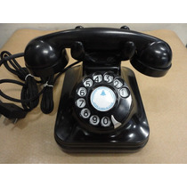 Telefone Antigo Standard Eletric Preto Da Década De 30