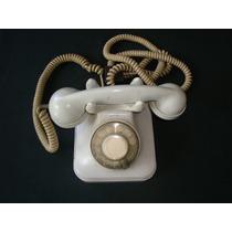 Telefone Antigo De Baquelite Na Cor Cinza Original Funcionan