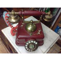 (only Wood) Telefone Antigo Todo Desenhado Original