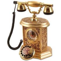 Telefone Decorativo Com Relógios Bordados (pedras)