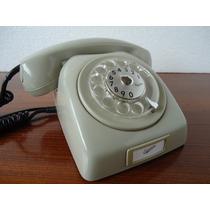 Telefone Ericsson De Disco Cinza Dos Anos 80 Antigo Retro.