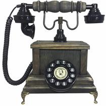 Telefone Antigo Vintage Retro Marquês Preto