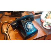 Telefone Preto Baquelite Antigo Anos 60 Retro Vintage