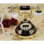Telefone De Mesa Vintage Antigo Retro Decoração