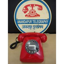 Telefone Antigo Siemens H-70 Vermelho Anos 70 Original