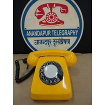 Telefone Antigo Siemens H-70 Amarelo Anos 70 Original