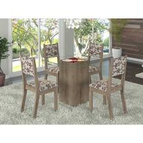 Sala De Jantar 4 Cadeiras Madeira Maciça Tampo De Vidro