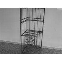 Bar Em Ferro Maciço Com Porta Taça Vinho Med 180 Alt 64x64