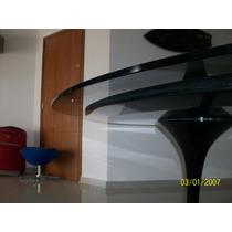 Mesa Eero Saarinen De Jantar Oval 1.60 X 0.90 Tampo Vidro