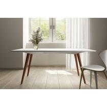 Mesa De Jantar Lumina Branco 1,80 X 1,00 - Artesano