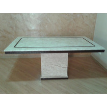 Mesa Jantar Travertino Com Ratam Resina No Tpo 2.00 X 1.00