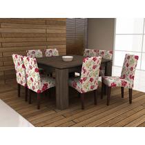 Jogo De Mesa Com 8 Cadeira Para Sala De Jantar Ammo Mobili