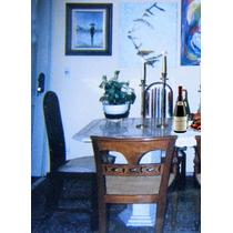 Mesa De Marmore Travertino Com Duas Colunas Estilo Romano