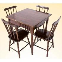 Mesas E Cadeiras De Madeira P/ Bar Restaurante Lanchonete
