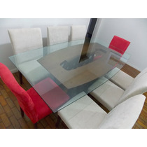Mesa De Jantar Em Vidro - 8 Lugares