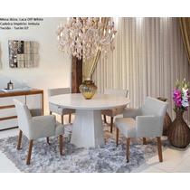 Conjunto Sala De Jantar Ibiza Mesa C4 Cadeiras - Mobillare