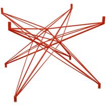 Base De Mesa Estrela Quadrada Pequena Vermelha - Bbd225