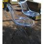 Cadeira Acrílica Charles Eames Dkr Torre Aço Inox
