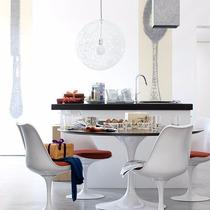 Base De Mesa Saarinen Em Alumínio Fundido Oval Ou Redonda