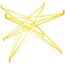 Base De Mesa Estrela Quadrada Pequena Amarela - Bbd225