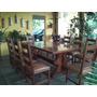 Mesa Madeira Maciça Com 10 Cadeiras Estofada