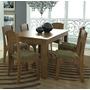 Mesa De Jantar Mdf Mesa 160cm + 6 Cadeiras Estofadas