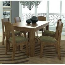 Mesa De Jantar Mdf Mesa 160cm + 6 Cadeiras Estofadas ¿ Dalla