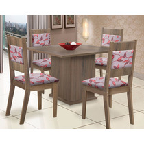 Conjunto De Mesa Com 4 Cadeiras Orquídea Arizona - Mk Decor