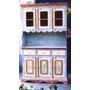 Ca1201 - Armário Cozinha Em Madeira De Demolição Policromia