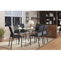 Conjunto De Jantar Super Moderno C/6 Cadeiras Carraro