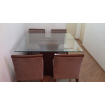 Mesa De Jantar 1,2 X 1,2 Metros E 4 Cadeiras
