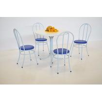 Mesa De Jantar Com 4 Cadeiras E Tampo Redondo De 900 Mm !!!!