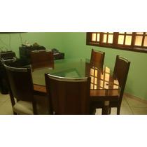 Sala De Jantar Com 6 Cadeiras Madeira Maxixa