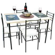 Mesa De Jantar - 4 Cadeiras Evidence - Branco - Umobili