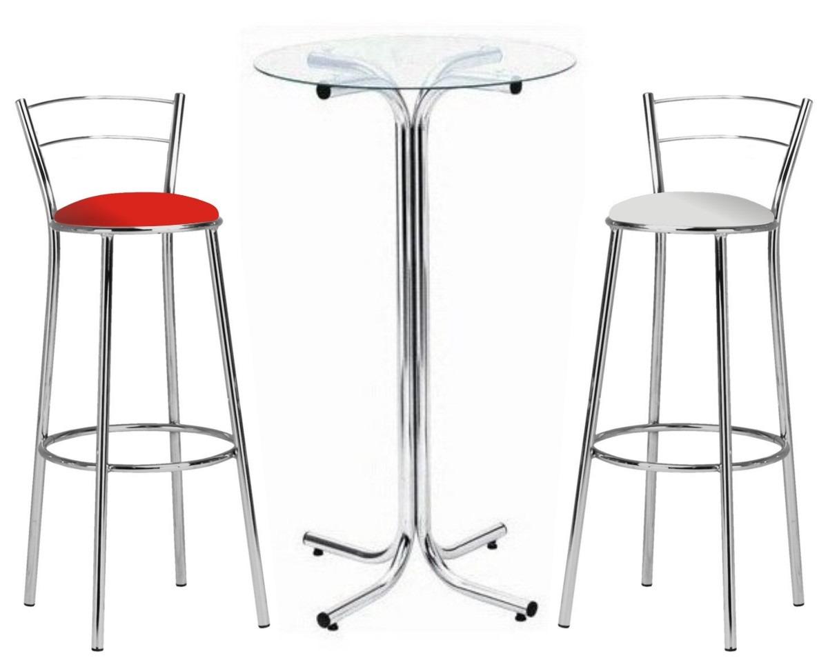 Mesa Mezinha Alta Bistro Cozinha Bar Cromada(tampo De Vidro) R$ 239  #B41F18 1200 957