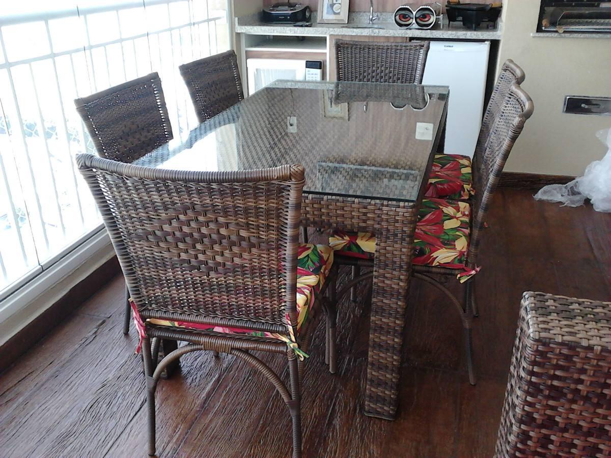 mesa jardim fibra sintetica:Mesa Olanda Com 6 Cadeiras Em Aluminio Com Fibra Sintética – R$ 2.390