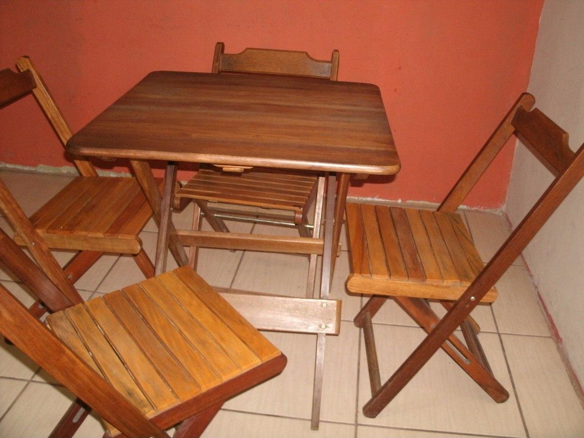 Cadeiras Madeira Maciça Dobrável Usada R$ 499 00 no MercadoLivre #491B0C 1200x900