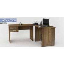 Mesa Em L, Mesa Para Canto Com Gavetas Office 6500 Imbuia