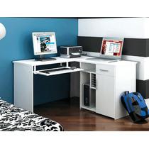 Kit Union Multivisao Mesa Em L Para Computador E Impressora